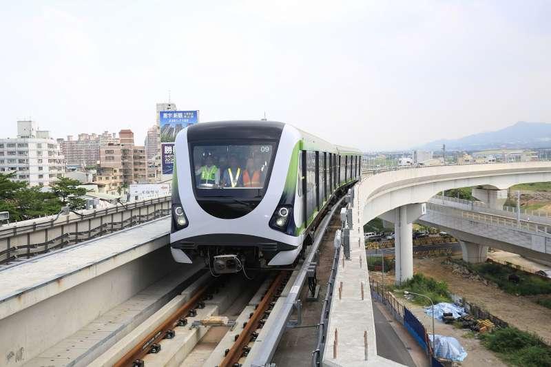 為了能否參加電聯車標案,台車與北市捷運局槓上。圖為台中市輕軌系統綠線。(圖/台中市政府提供)