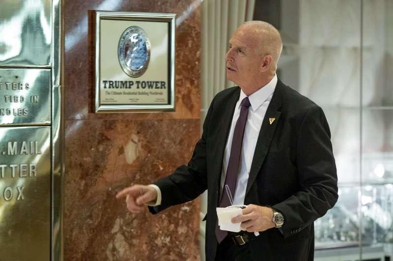 美國總統川普的前保鑣希勒(Keith Schiller)。(美聯社)