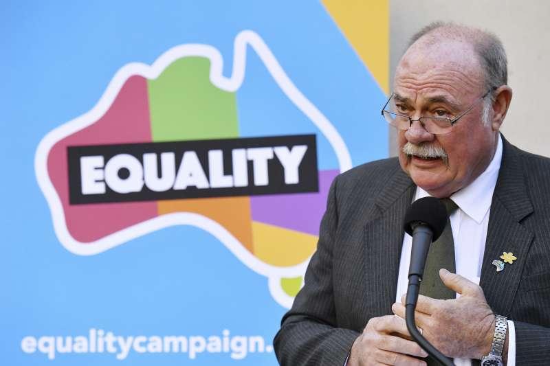 自由黨眾議員恩取大力爭取同志平權,只為「做正確的事」。(美聯社)