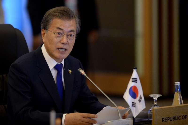 南韓總統文在寅推出「新南方政策」,宣布深化南韓與東協國家關係。(美聯社)