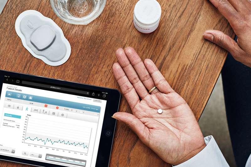 數位藥丸「Abilify MyCite」(Proteus Digital Health)