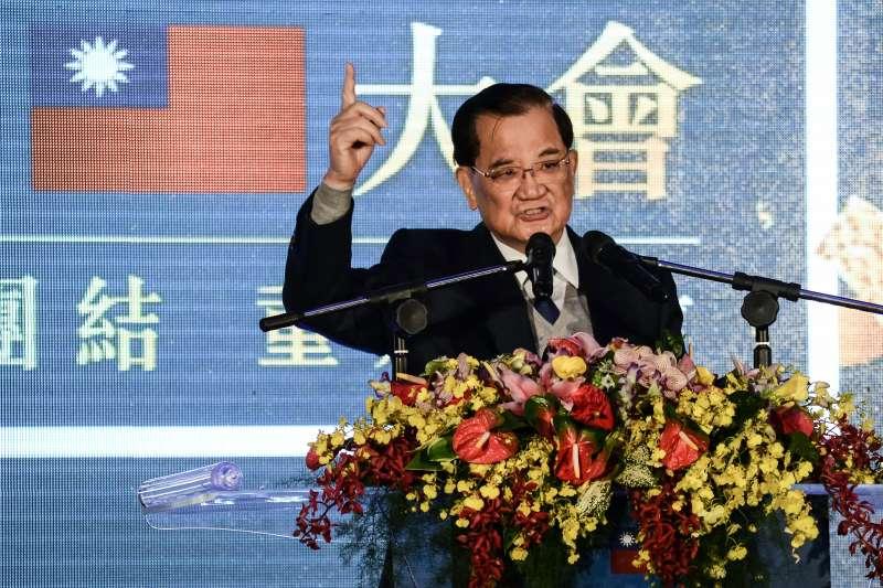 20171124-國民黨黨慶,連戰致詞。(甘岱民攝)