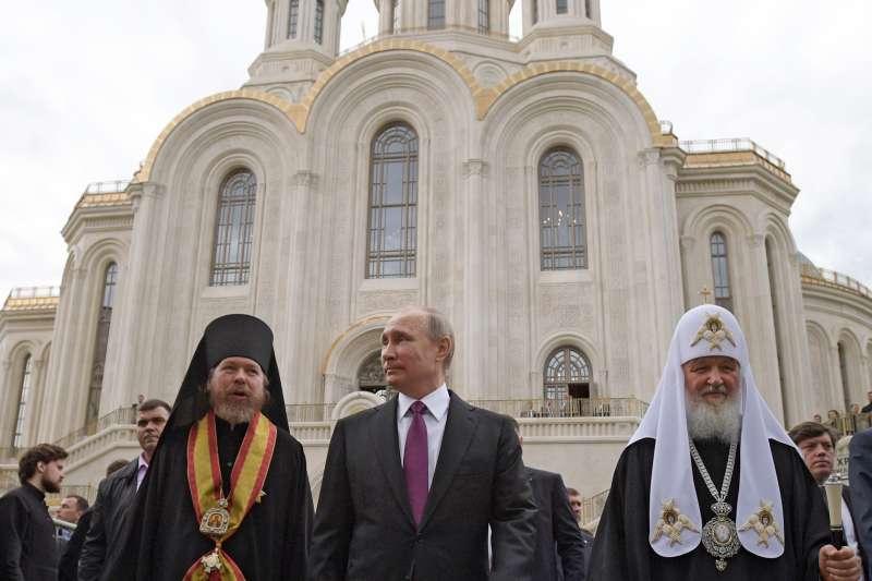 俄罗斯总统普京(Vladimir Putin)与俄罗斯东正教会有着密切的关系。(美联社)