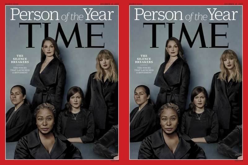 美國《時代》(TIME)雜誌6日公布今年的「年度風雲人物」:「打破沉默者」(The Silence Breakers)(AP)