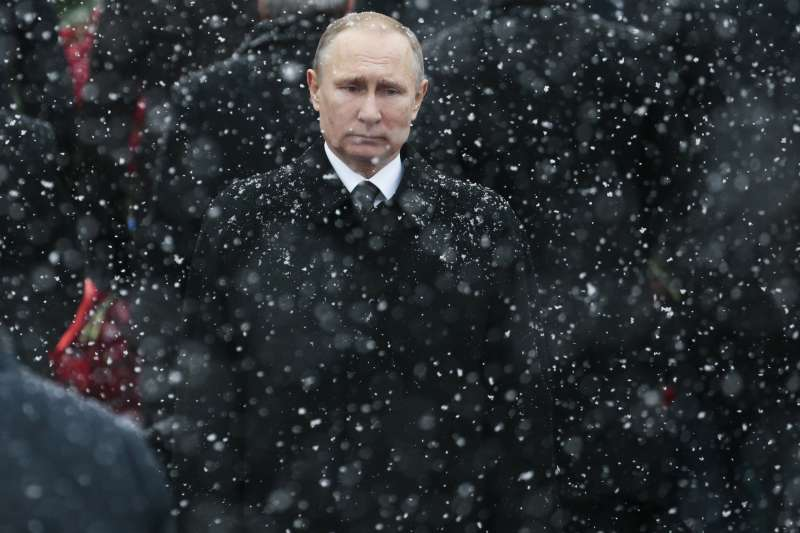 俄羅斯總統普京12月6日宣布參加2018總統大選。(美聯社)