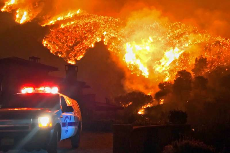 加州大火。(美聯社)
