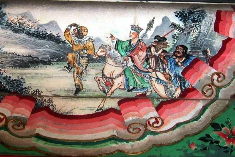 馬國是以穆斯林為主體的社會,很多人擔心西遊記中「豬八戒」的角色會觸動馬來社會的敏感神經。圖為北京頤和園長廊上的《西遊記》師徒四人繪畫。(取自維基百科)
