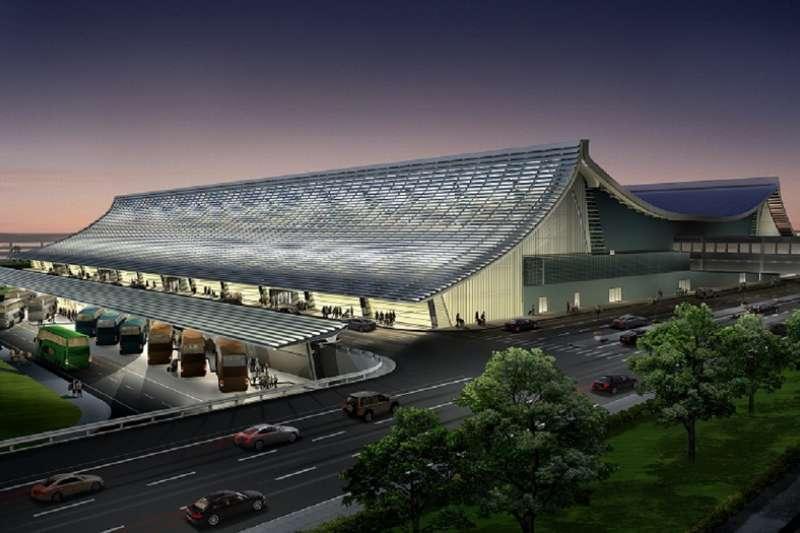 桃園國際機場一航厦整建,由日本建築新星團紀彥設計改造後,已經有了不同的風貌。(圖片來源:準建築人手札網站)