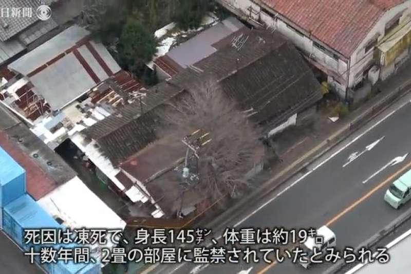 日本大阪府寢屋川市一所民宅近日傳出棄屍事件。(翻攝影片)