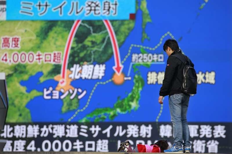 北韓在2017年多次試射彈道飛彈,威脅日本(AP)