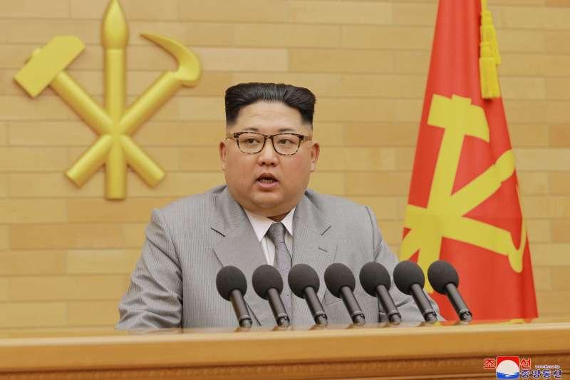 北韓最高領導人金正恩發表2018年新年賀詞(AP)