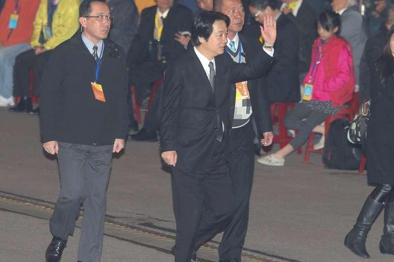 2018-01-01-總統府元旦升旗典禮,賴清德出席。(台北市攝影記者聯誼會提供)
