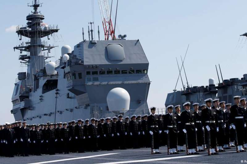 出雲級護衛艦之一:加賀號。(德國之聲)