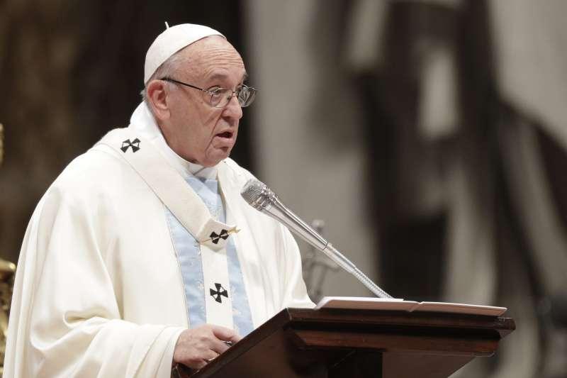 2018年元旦,教宗方濟各主持第一場彌撒(AP)