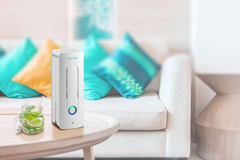 PURUS air智慧空氣清淨機獨家專利「超高密度螺旋電暈吸附技術」(圖/PURUS air提供)