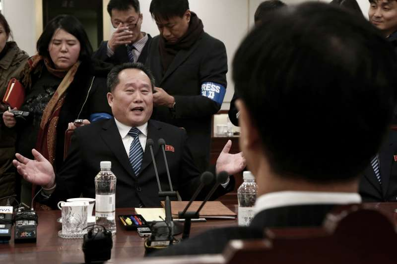 北韓談判首席代表李善權。(美聯社)