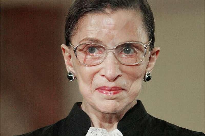 美國聯邦最高法院最著名的自由派大法官金斯堡(Ruth Bader Ginsburg)(美聯社)