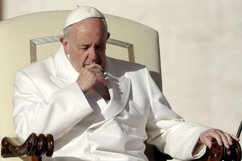 中國與梵蒂岡近期可能解決主教任命爭議。圖為梵蒂岡天主教教宗方濟各。(AP)