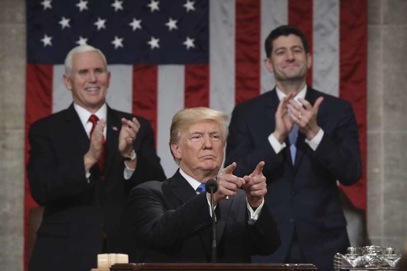 美國總統川普的稅改政策於去年通過。(資料照,美聯社)