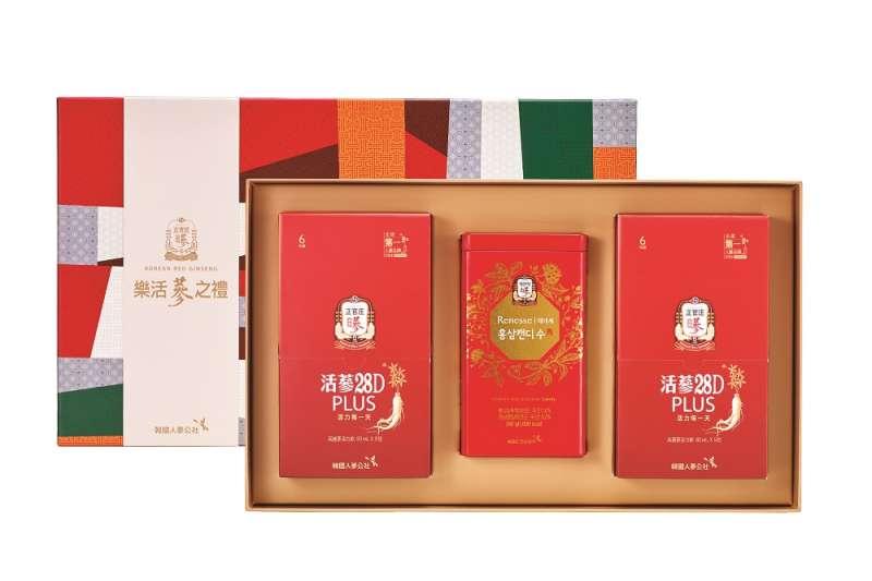 樂活 28D POUCH5包2盒+蔘糖240g(圖/正官庄提供)