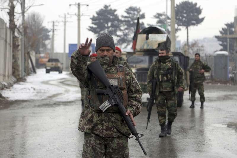 阿富汗首都喀布爾的安全部隊(AP)