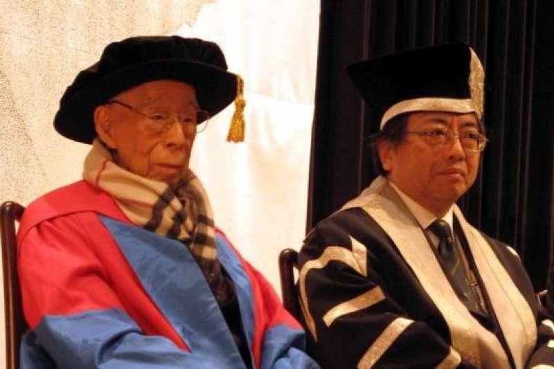 2014年,饒宗頤成為港大「桂冠學人」。(BBC中文網)
