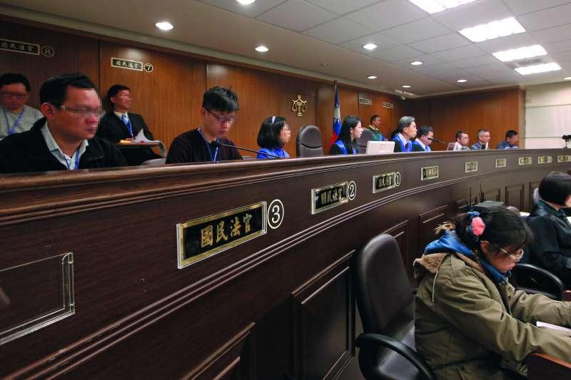 有高院法官認為國民參審其實很適合處理政治案件。(郭晉瑋攝)