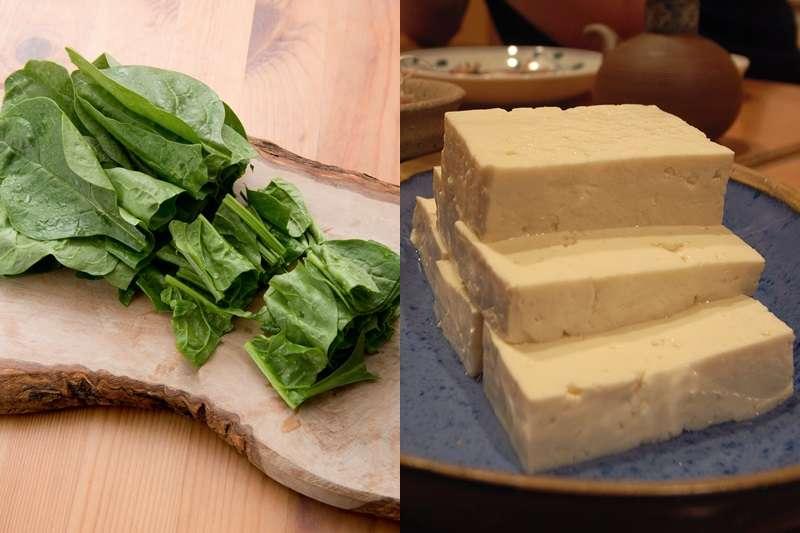 波菜加豆腐,真的會腎結石嗎?(圖/左取自pakutaso,右取自Jun OHWADA@flickr)