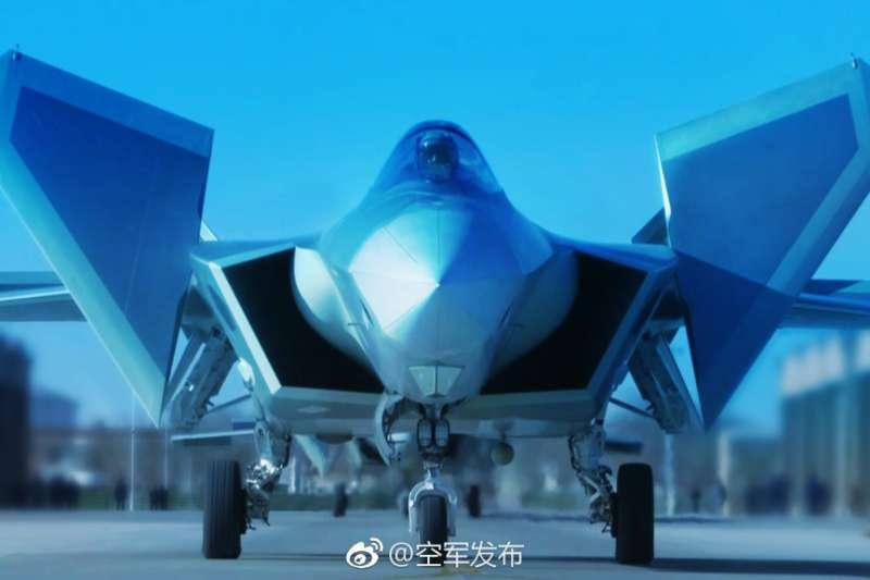 殲-20。(中國空軍官方微博)