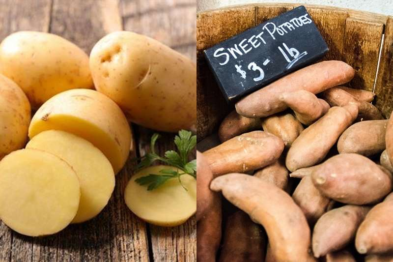 說到熱量低、營養充分又有飽足感的澱粉類食物,很多人都會立刻想到馬鈴薯跟地瓜。(圖/左為華人健康網提供│右取自pixabay)