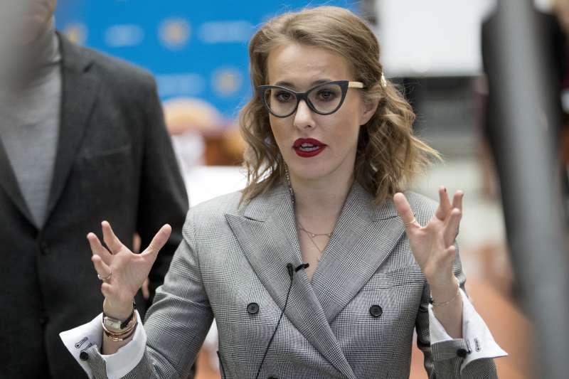 2018年俄羅斯總統大選候選人索布恰克(Ksenia Sobchak)(AP)