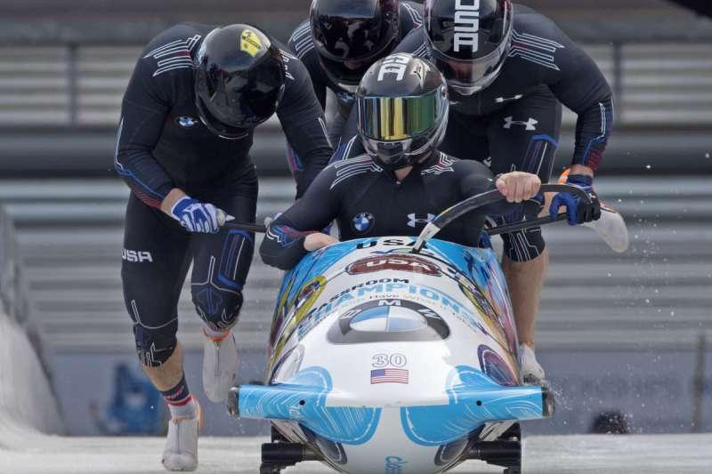 南韓平昌冬奧:美國有舵雪橇參賽隊伍(AP)
