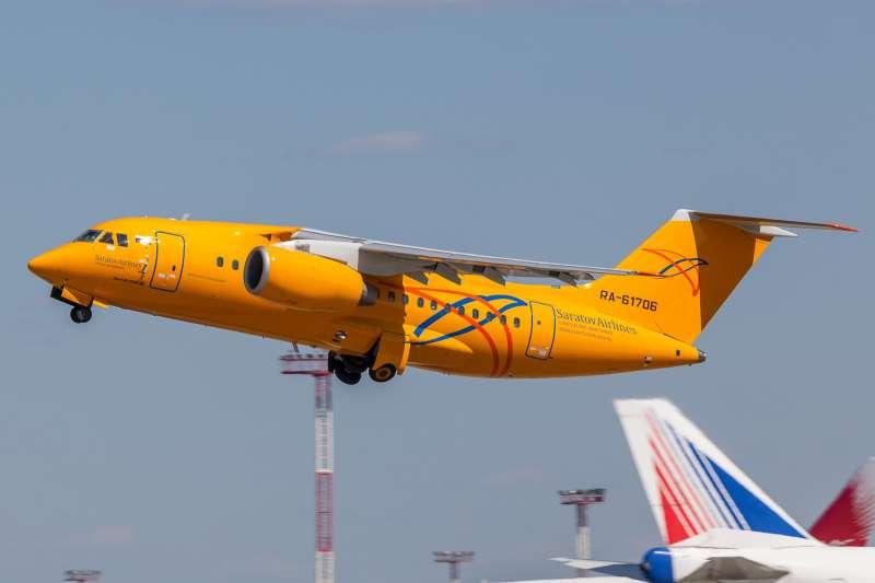 俄羅斯沙拉托夫航空公司(Saratov Airlines)的安托諾夫AN-148型客機(Alex Snow@Wikipedia / CC BY-SA 4.0)