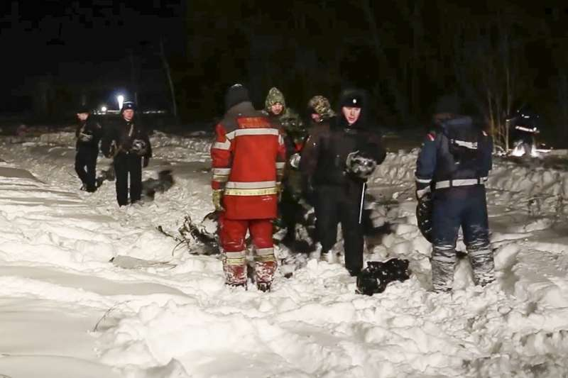 2018年2月11日,俄羅斯一架安托諾夫AN-148客機從首都莫斯科的「多莫傑多沃國際機場」起飛之後墜毀,機上71人全部罹難。(AP)