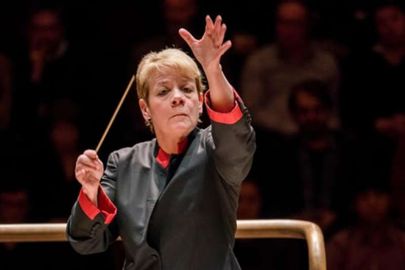 美國指揮家馬琳‧奧爾索普Marin Alsop。(圖/澎湃新聞提供)