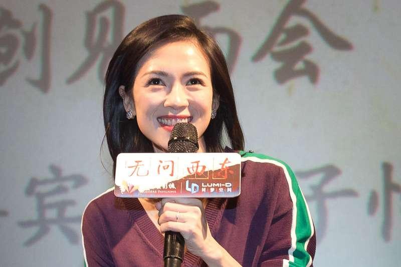 章子怡出席電影《無問西東》南京見面會。(新華社)