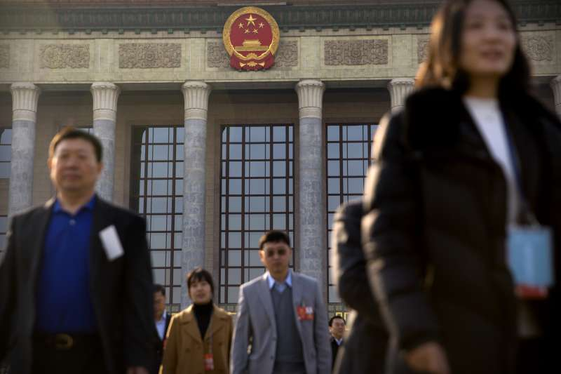 2018年3月,中國「全國兩會」政協、人大登場(AP)