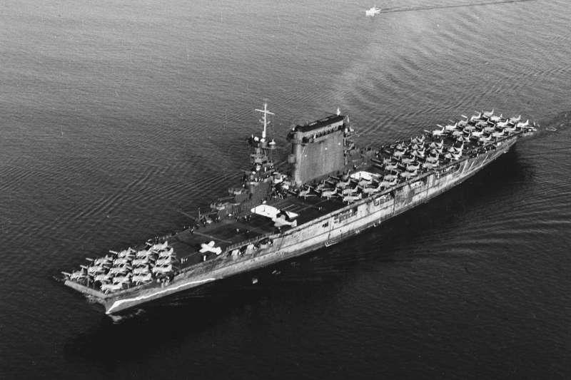 1941年的美軍列星頓號航母。(維基百科/公用領域)