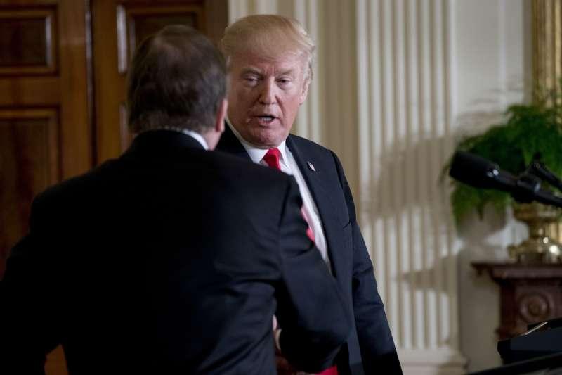 美國總統川普是否將引發21世紀的全球貿易戰,舉世關注。(AP)