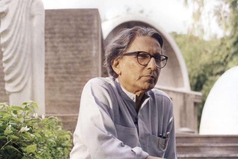 2018年第40屆「普立茲克建築獎」得主,印度社會住宅大師多西(Balkrishna Doshi)(AP)