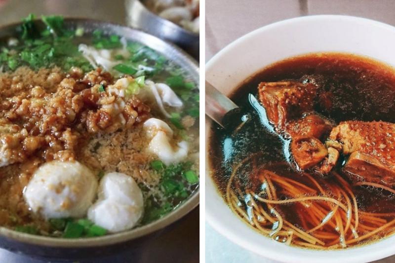 台南的鴨母寮市場已有百年歷史,更以美食出名,想嚐嚐最道地的台南風味,去傳統市場準沒錯!(圖/左取自nellydyu@Instagram,右取自guoyeph@Instagram)