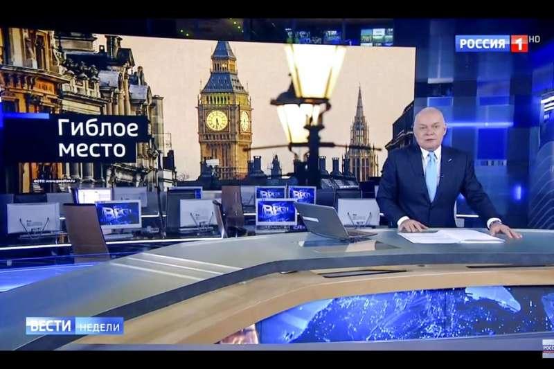 斯克里帕爾在英遇襲案也登上俄國的電視媒體。(美聯社)