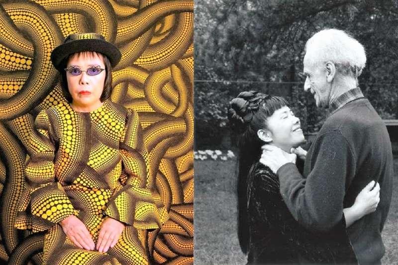 草間彌生是日本現存的經典藝術家,但她的創作來源,源自於坎坷、傳奇的一生。(圖/言人文化提供)