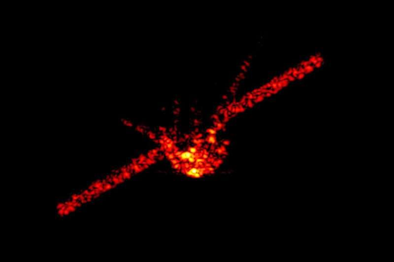 中國2011年發射的首座太空站「天宮一號」在前年3月失控後,各界關注其墜落地點。(美聯社)