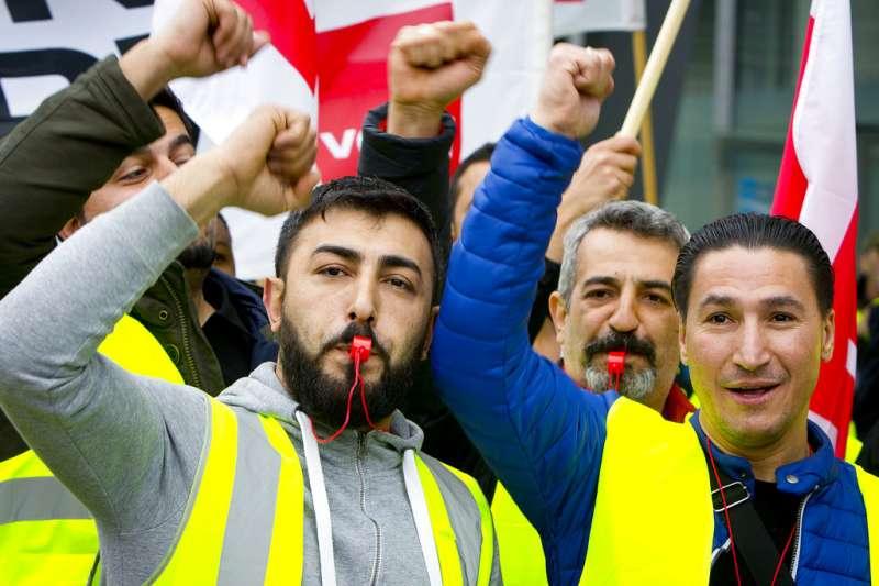 德國大罷工。(美聯社)