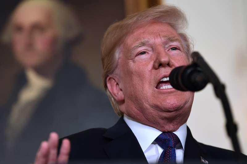 2018年4月13日,美國總統川普下令:對敘利亞發動軍事攻擊(AP)