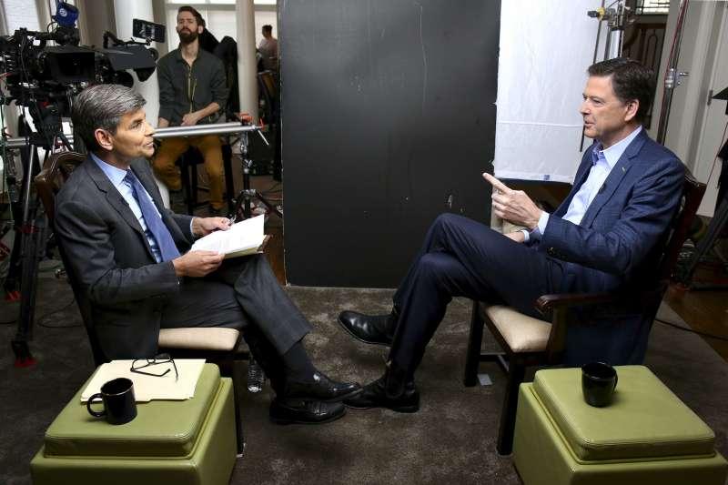聯邦調查局(FBI)前任局長柯密(James Comey)接受ABC News專訪(AP)