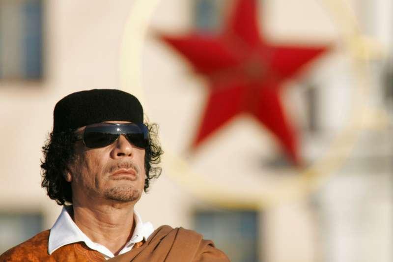利比亞狂人格達費。(美聯社)