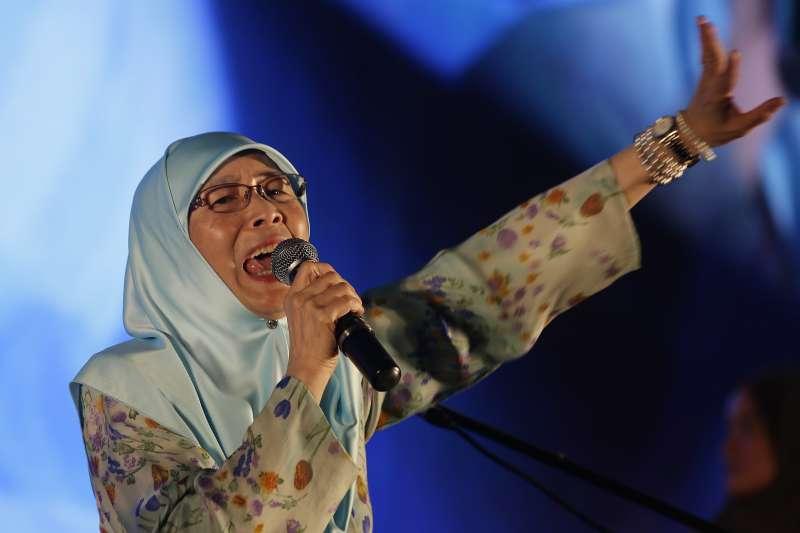 2018年5月馬來西亞大選變天,前副總理安華妻子、希盟主席旺阿茲莎(Wan Azizah Wan Ismail)可望出任副總理(AP)