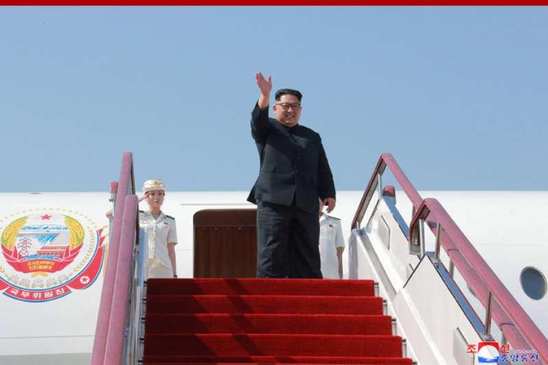 2018年5月,北韓最高領導人金正恩搭乘專機「蒼鷹一號」訪問中國大連(朝中社)